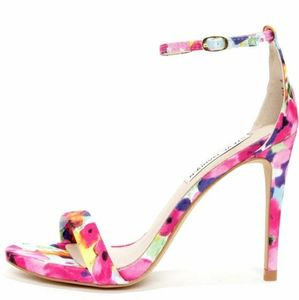 Just Fab floral satin strappy heel